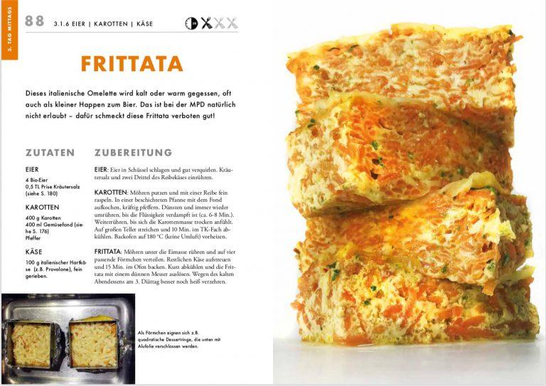 Statt Langeweile mit Möhren, Eiern und Käse kreative Zubereitungsideen wie diese Karottenfrittata.