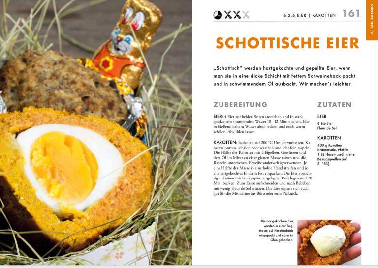 """Wer hätte gedacht, dass man aus der kryptischen Diätvorgabe """"Karotten, Eier"""" so einen Gaumenspaß wie diese Schottischen Eier machen kann?"""